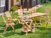 Rozkladací stôl GENTLE 76x150-200x90cm, teak - foto2